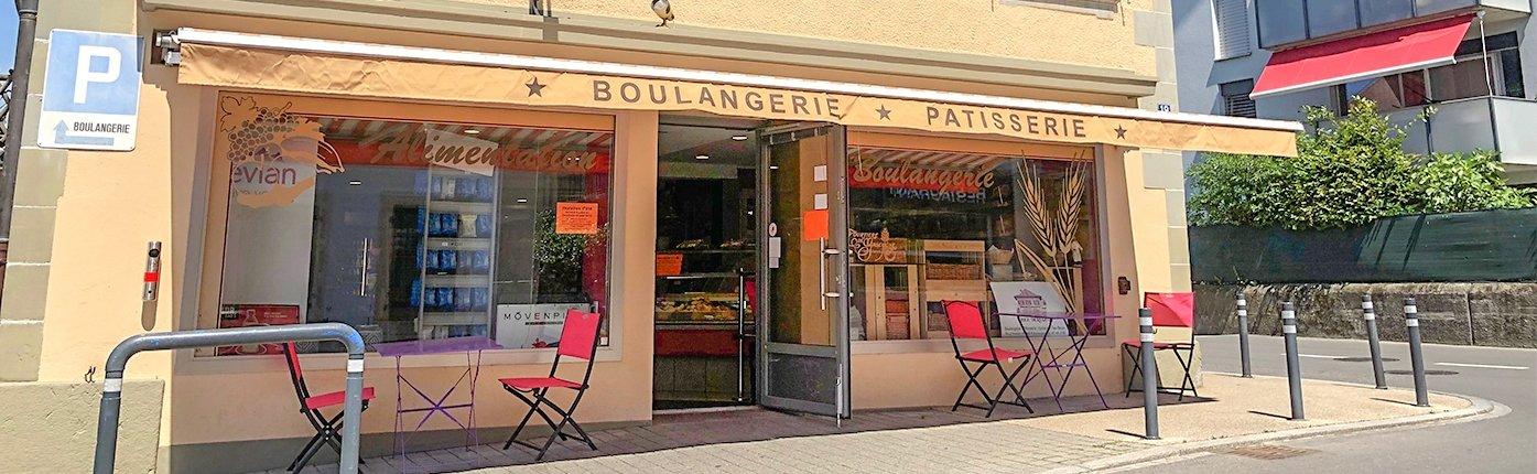 Devanture de la boulangerie patisserie Chez Deriaz